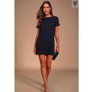 Lulus Shift and Shout Black Shift Dress XS